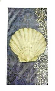 Sea Scallop Shell Guest Hand Towels Paper Napkins Beach House 20 pk Set of 2