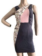 H&M sexy gris Stretch Body con Formal Informal Fiesta Vestido UK 8 EU 34 nos 4 XS BNWT