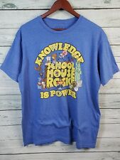Ripple Junction Retro T-Shirt Tee School House Rock Knowledge is Power Men's XL