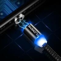 Sale Braided Magnetic Lightning+USB Charger Charging Cable For Phone