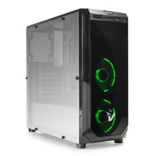 VULTECH CASE GAMING ATX GS-0385GR BLACKDOOM CON VENTOLE HALO LED VERDI