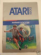 Atari 5200 Soccer Instructions Manual Booklet Guide