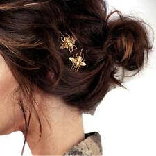 Style Hairpin Girl Exquisite Gold Bee Side Clip Hair Accessories 2 PCS #