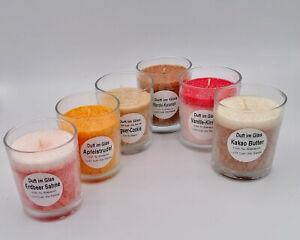 Süße Versuchung - 6 Stück Duftgläser verschiedene Düfte - Reidel Kerzen
