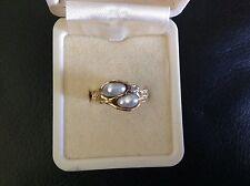 18ct Yellow Gold Pearl & Diamond Dress Ring