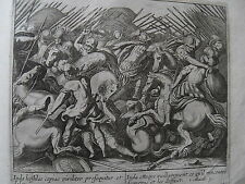 C21-1w Gravure religieuse 17e Iuda attaque vaillaimment (Macab. 3)