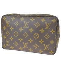 Auth LOUIS VUITTON Trousse Toilette 23 Clutch Hand Bag Monogram M47524 65MG181