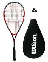 Wilson Impact Pro 900 Red Squash Racket + Cover & 3 Squash Balls RRP £50