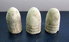 Antique Old Dug Relics Civil War Era Crimean War Minnie Lead Bullets * Set 3 pcs