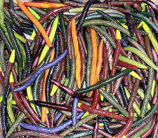 "50ct BULK ASSORTMENT Premium 5"" Senko Style FAT Stick Worms Bass SALT & SCENT"