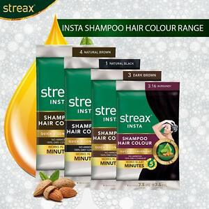 Streax Insta Shampoo Hair Colour For Men & Women Long-Lasting Instant Colour
