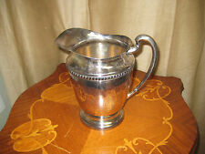 VINTAGE SILVER PLATE WATER PITCHER WITH HANDLE-  #2