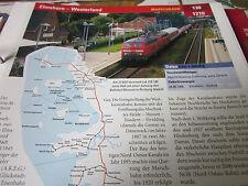 Archiv  Eisenbahnstrecken 130 Elmshorn Westerland Marschbahn