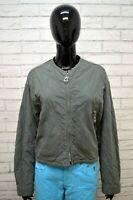 Giubbotto ARMANI JEANS Donna L Giubbino Giacca Verde Jacket Woman Cotone Vintage