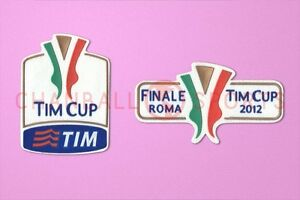 Italy TIM Cup 2012 final Juventus vs Napoli Sleeve Soccer Patch / Badge