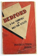 Bedford 6Cwt Carryall and Half-Ton Utility 1946 instruction manual - wp