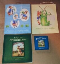 4 BEATRIX POTTER PETER RABBIT ITEMS 2 BOOKS AND 2 BIRTHDAY PARTY TREAT BAGS