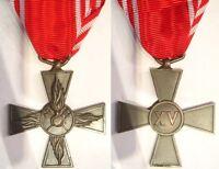 Croce per 15 anni di anzianità nei vigili del fuoco pompieri in bronzo