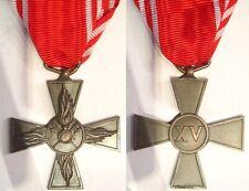 Croce per 15 anni di anzianità nei vigili del fuoco in bronzo