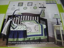 9 pcs Cocalo Moss Collection Crib Bedding Set Valance Musical Mobile Wall Art