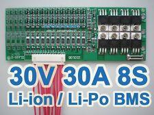 28V 29.6V 33.6V 30A 8x 3.6V 8S Lithium ion Li-PO Polymer Battery BMS PCB System