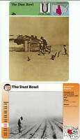 THE DUST BOWL Mid-West Plains 1930s PICTURES 2 STORY OF AMERICA CARDS