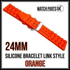 * 24mm naranja estilo de Enlace Pulsera Silicona Goma Reloj Correa De Alta Calidad *