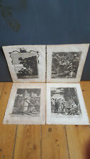 The Life of Christ x4 Antique Engravings, 1811 - Christ Betrayed, Christ in the