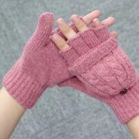 Women Girl's Winter Gloves Fingerless Mittens Knitted Glove Hand Warmer Gloves