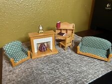 Calico critters/sylvanian families Living Room Furniture With Lighted Fireplace