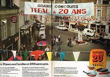 PUBLICITE ADVERTISING 114  1976  TEFAL poeles casseroles CONCOURS DES 20 ans(2p)