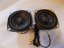 "2 CA Cyber Acoustic 3"" Full Range Speaker Pair 4 Ohms Shielded"