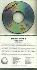 MARIA MCKEE - Lone Justice - LIFE IS SWEET - USA 1996 ADVANCE PROMO DJ CD