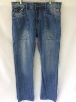 Marc Ecko Denim Jeans Sz 34 Slim Straight Fit EUC
