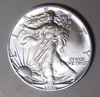 1990 American Silver Eagle BU 1 oz US $1 Dollar U.S. Mint Brilliant Uncirculated