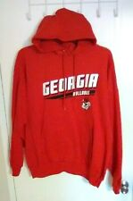 Georgia Bulldogs Men's Red Pullover Hoodie - Front Pocket - Size: L