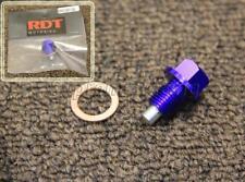 RDT BLUE ANODIZED ALUMINUM Magnetic Oil Drain Plug BOLT M12X1.25mm W/ WASHER