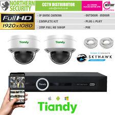 2MP Dôme Poe Caméra IP CCTV Plug & Play Kit Pack Sécurité Système Lite Série