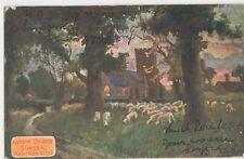 Norton Church Sunset, Garden City, 1907 Art Postcard, B390