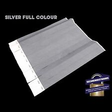 100 x Tyvek Party, Event Wristbands Silver Full Colour