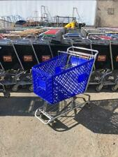 Shopping Carts Blue Plastic Lot 16 Medium Basket Used Store Fixture Dollar Store