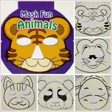 Animal Mask Creation Fun! color, embellish & wear (kids party pretend play zoo}