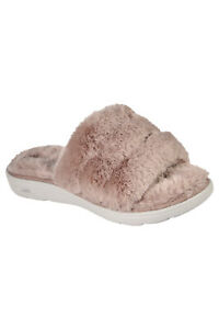 Skechers Womens Golounge Arch Fit Lounge Unwind Ultra Go Cushioning Slippers