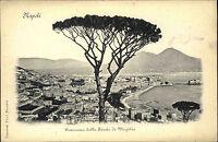 Neapel Napoli Italien Italia Kampanien AK ~1900 Panorama dalla Tomba di Virgilio