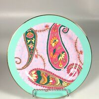Anthropologie Salad Plate Paisley multicolored contemporary dessert plate
