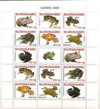 Surinam / Suriname 2009 Kikker Frog Frosch Grenouille MNH sheet