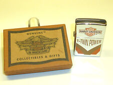 "HARLEY DAVIDSON ""V-TWIN POWER"" EAGLE ZIPPO LIGHTER - 1996 - OVP - MADE IN U.S.A."