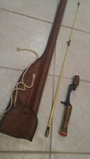 """heddon pal w3151 5'6"""" antique fishing rod with case"""