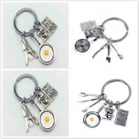 Charms Measuring Spoons Pot Pan Keychain Cook Book Keyring For Cooks Chefs Baker