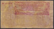 Indonesia 50 Rupiah 1948 local B'tingghi issue with S. Sumatra stamp, Pick S194